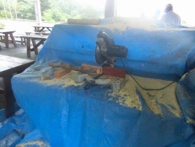 木札製作の丸鋸