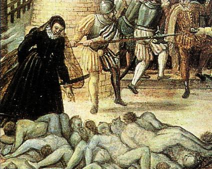 Le massacre par François Dubois (Source : Musée cantonal des Beaux-Arts, Lausanne)