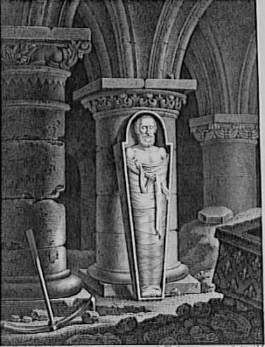 Henri IV et la violation des caveaux. (Source : téléversé par Robert Prummel, Wikimedia)
