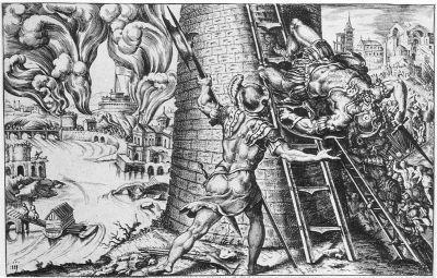 Le sac de Rome par Martin van Heemskerck (1555). (Source : Wikipedia)