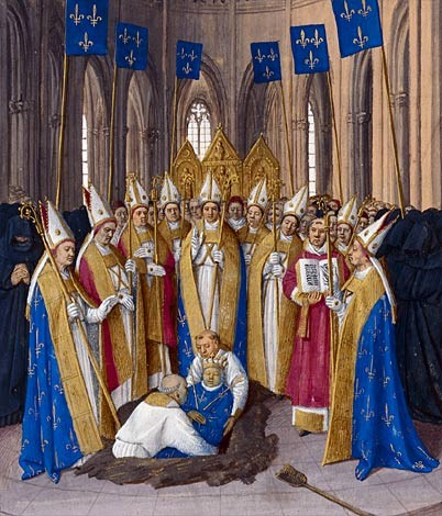 Enterrement de Philippe le Bel, par Jean Fouquet. (Source : http://bit.ly/1SoRump)