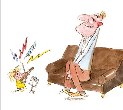 Illustration aus dem Buch von Peter Bauer »Wer nicht hören will muss fühlen«