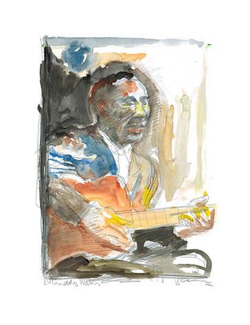 Muddy Waters (Bleistift, Aquarell)
