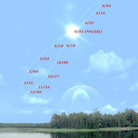 Аналемма - годовая траектория Солнца на небе