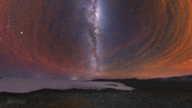 пример соприкосновение пузыре/воронок Земли и Нибиру (Чили)