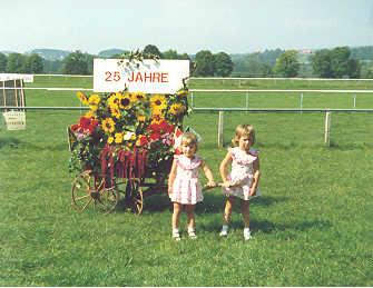 Tanja und Manuela Düring anlässlich einer Vorführung am 25-Jahr-Jubiläum