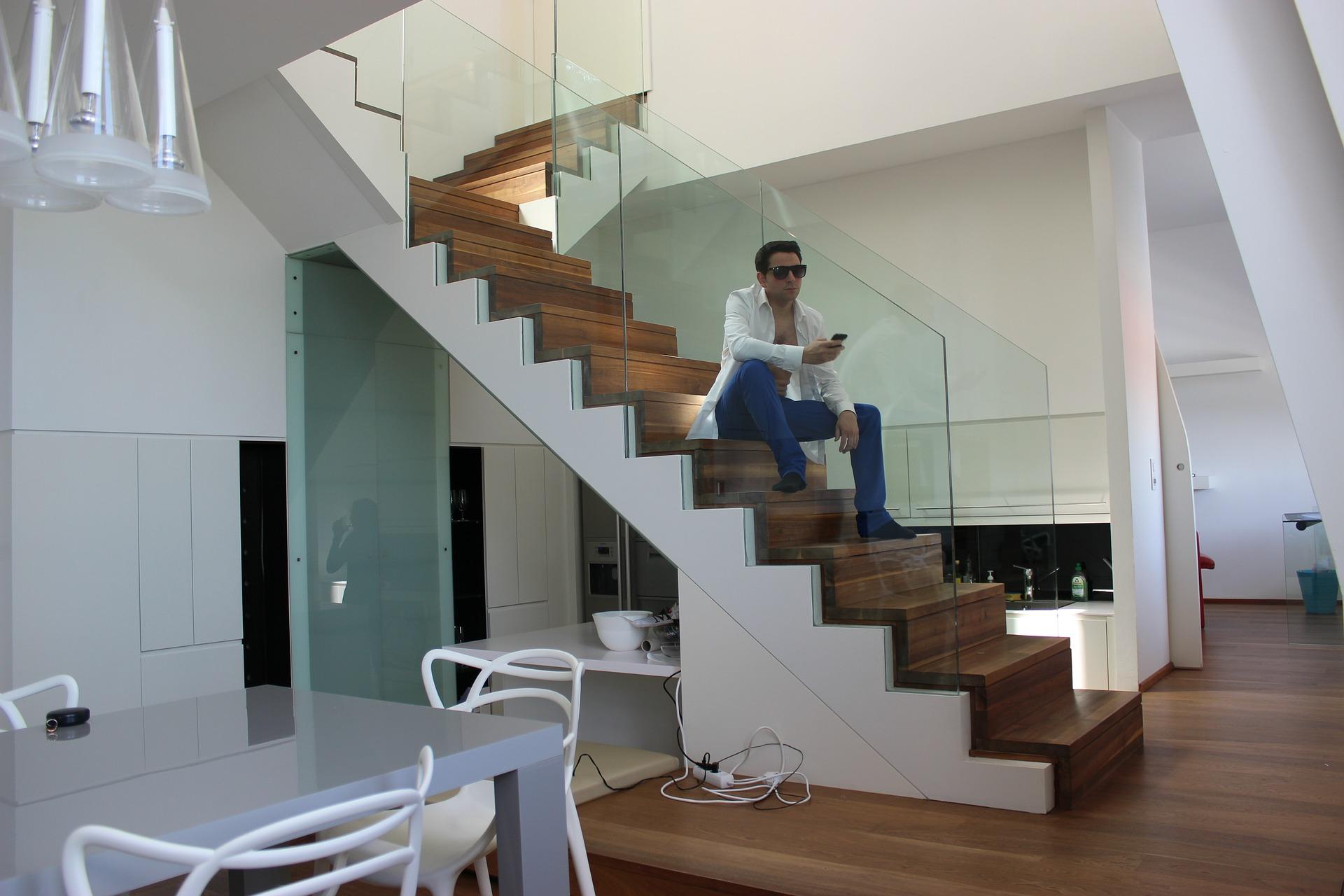 escalier protégé en toute pureté