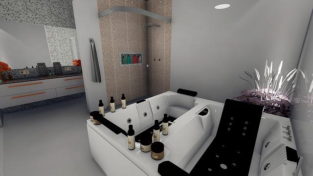 Parements de mur verre dans son spa