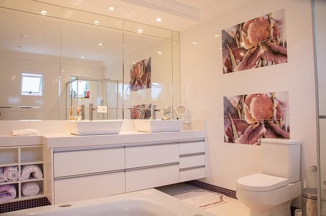 Chic dans la salle de bain