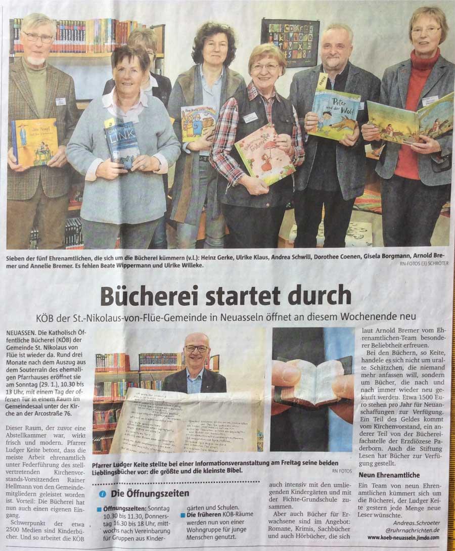 Ruhr-Nachrichten vom28. Januar 2017