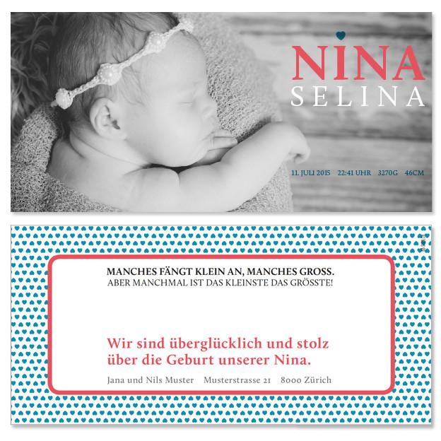 Nina: 2-seitig, 210×105 mm   Foto: © Nicole Ruffner-Racheter, www.babyaugenblick.ch