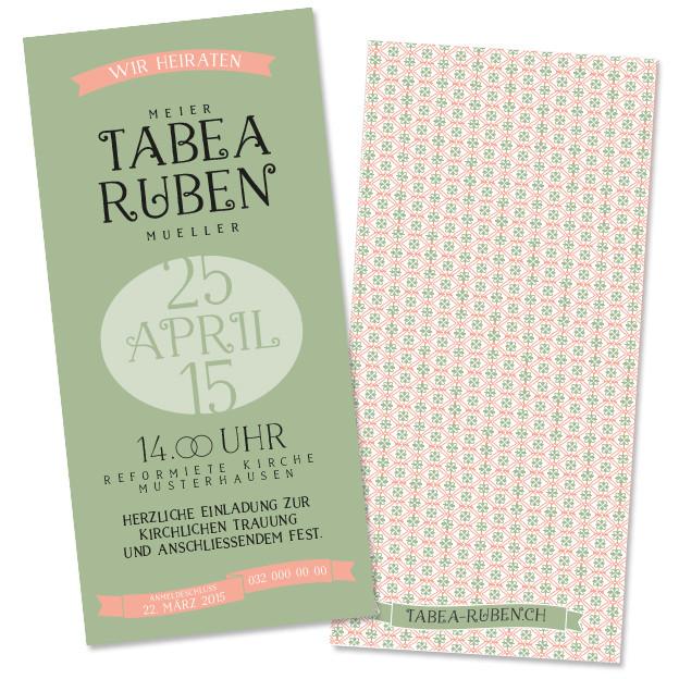 Tabea & Ruben: 2-seitig, 100×210 mm
