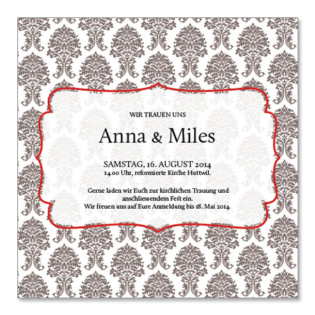 Anna & Miles: 1-seitig, 130×130 mm