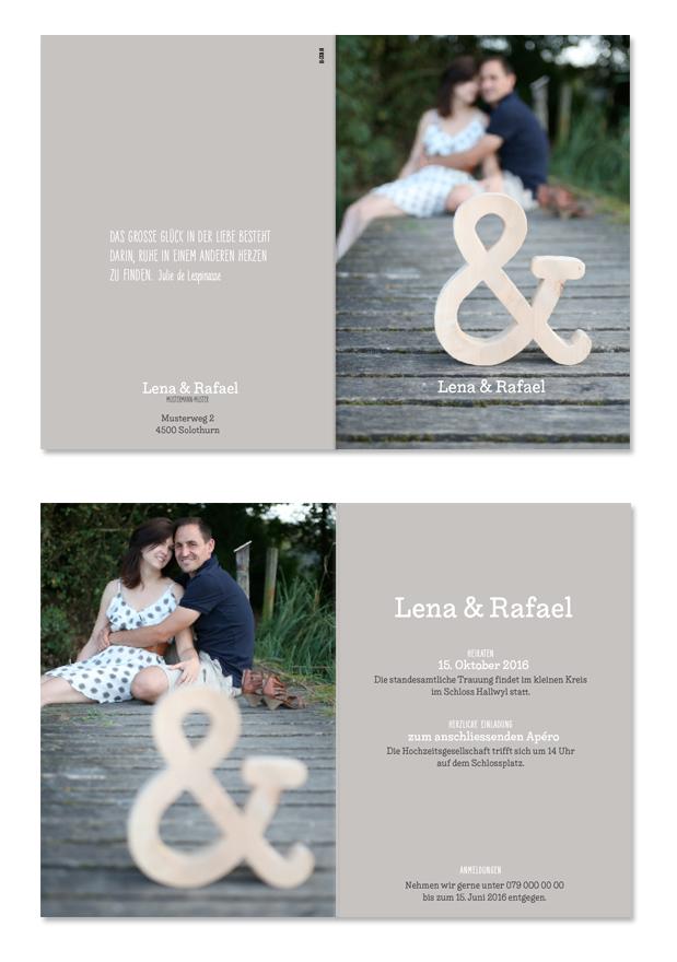 Lena & Rafael: 4-seitig, 105×148 mm | Foto: © Karin Merz, www.karinmerz.com