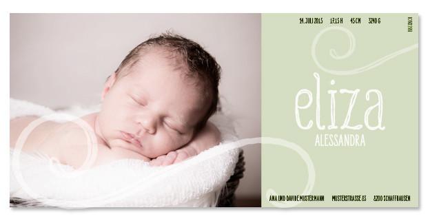 Eliza: 1-seitig, 210×105 mm   Foto: © Nicole Ruffner-Racheter, www.babyaugenblick.ch