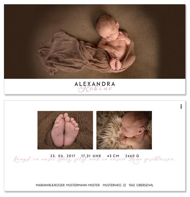 Alexandra Robine: 2-seitig, 210×105 mm   Foto: © Michaela Bohnenblust, www.mia-pictures.ch
