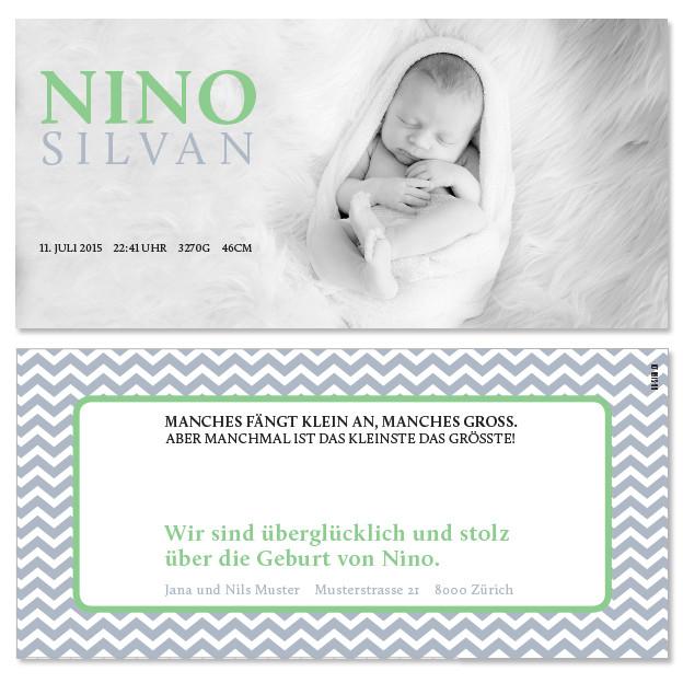 Nino: 2-seitig, 210×105 mm   Foto: © Nicole Ruffner-Racheter, www.babyaugenblick.ch