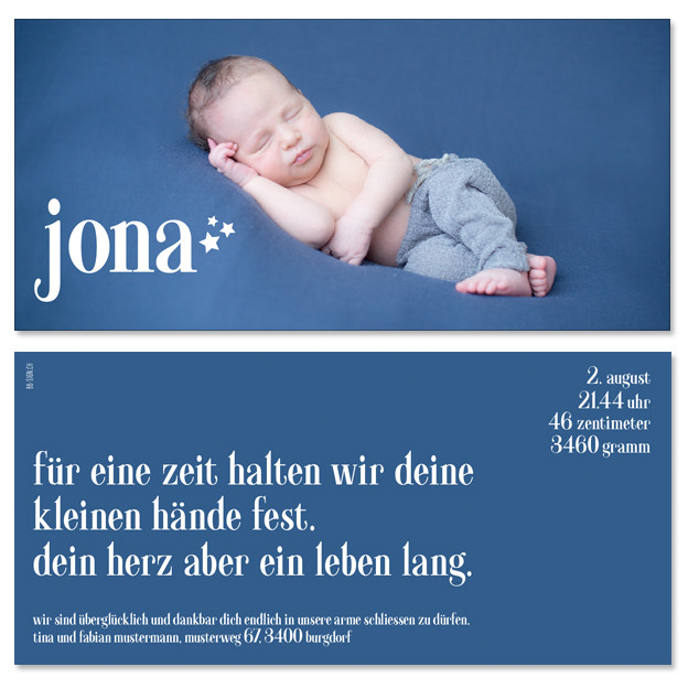 Jona: 2-seitig, 210×105 mm   Foto: © Nicole Ruffner-Racheter, www.babyaugenblick.ch
