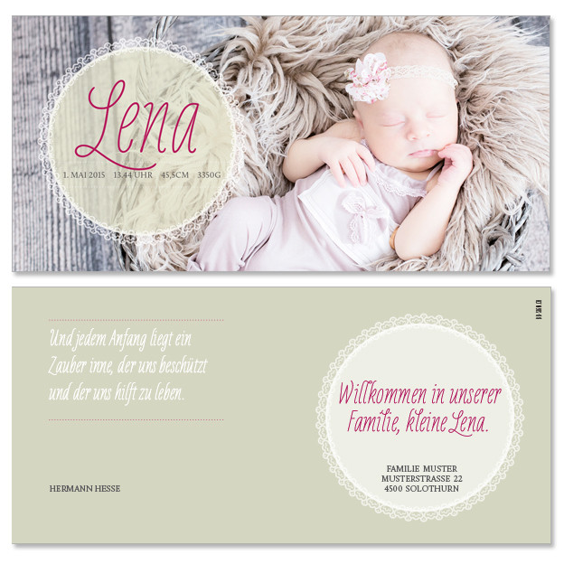Lena: 2-seitig, 210×105 mm   Foto: © Nicole Ruffner-Racheter, www.babyaugenblick.ch