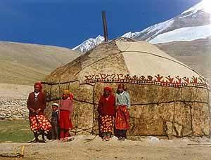 Jurte (Zelt der Pferdezüchter in der Mongolei)