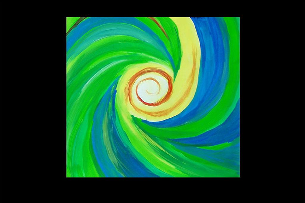 Spiralen mit Acrylfarben