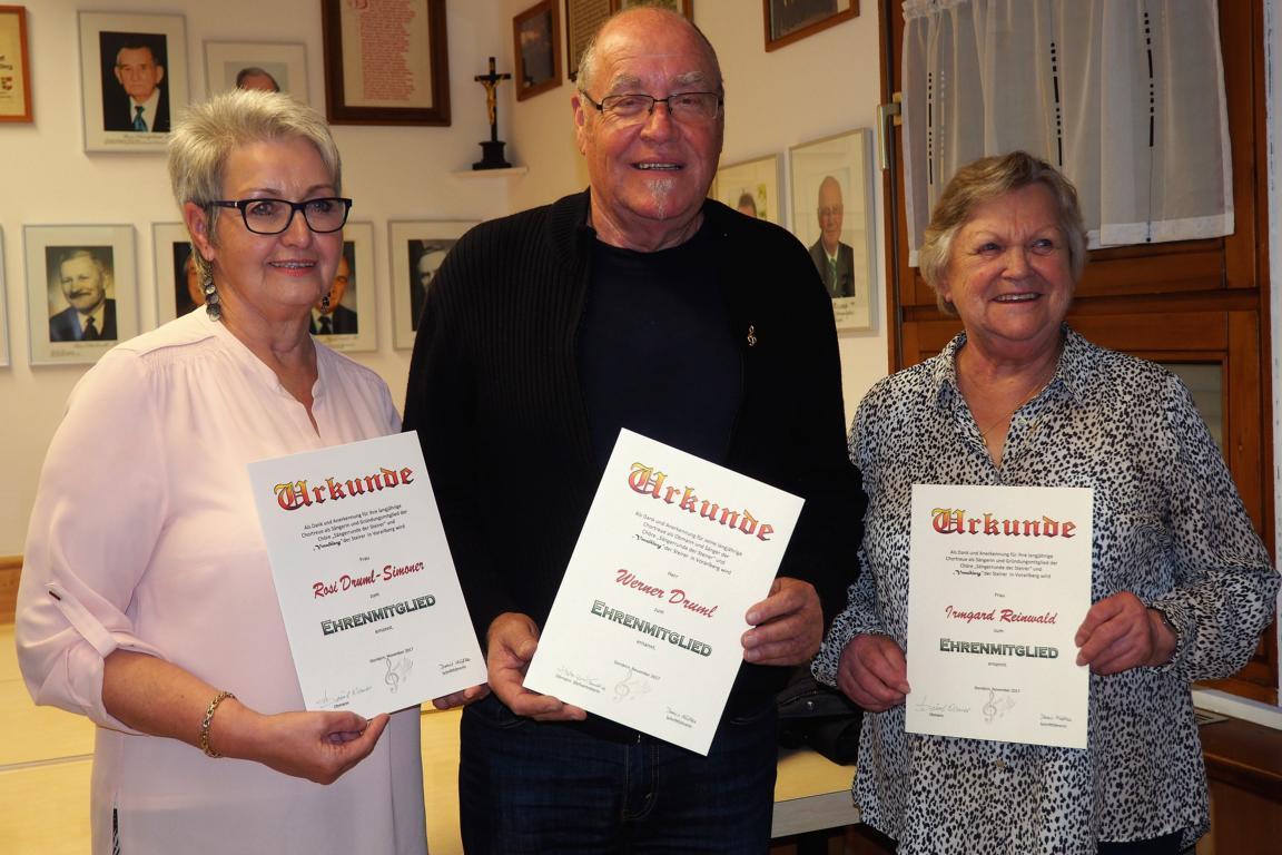 Unsere Ehrenmitglieder - Rosi, Werner, Irmgard