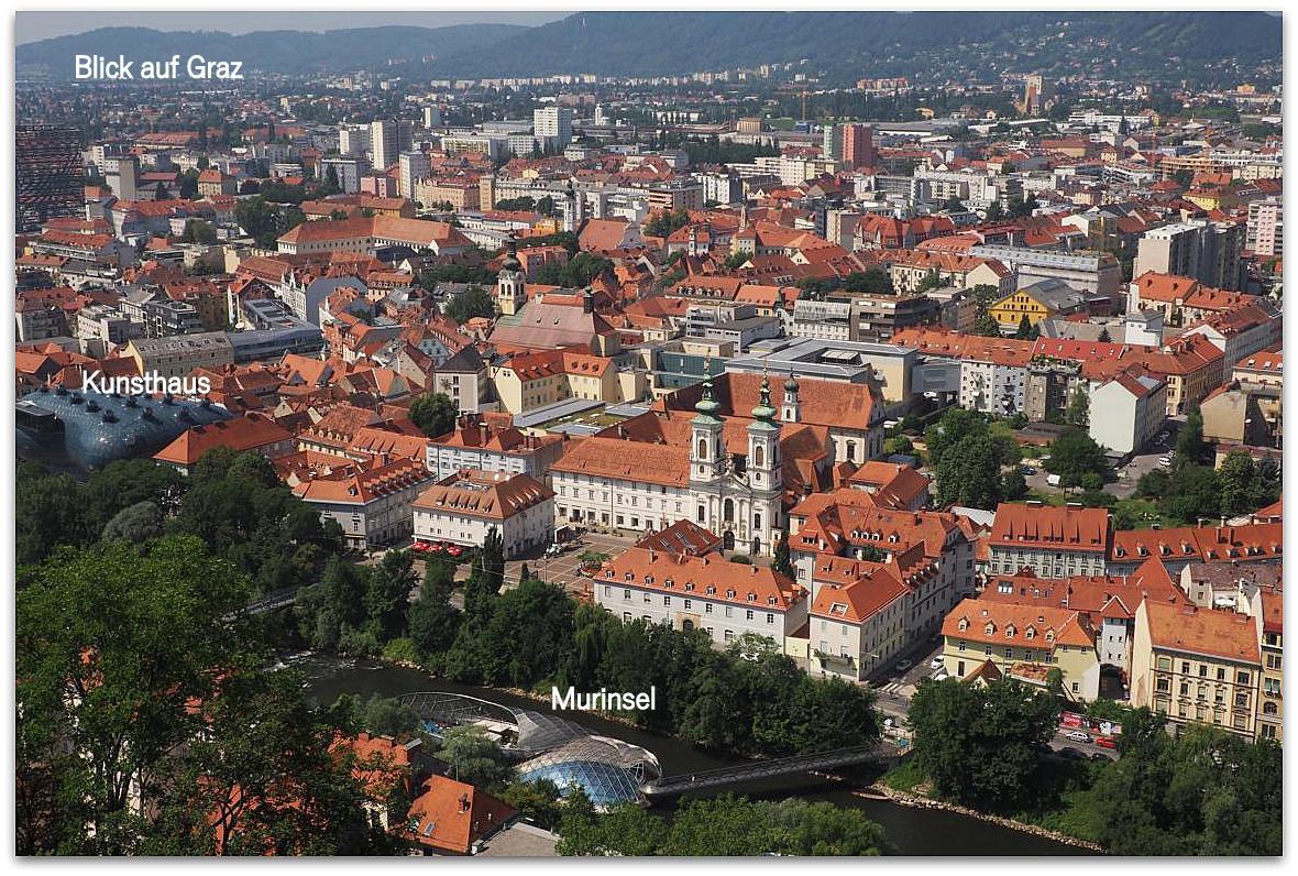 Blick auf die Landeshauptstadt Graz