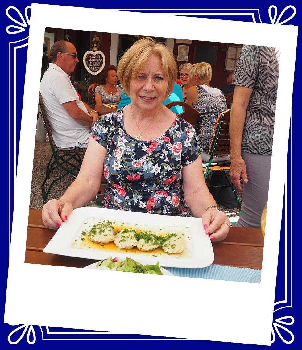 Doris freut sich auf die Kärntner Nudeln