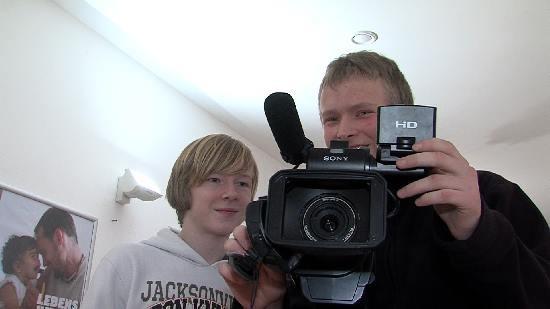 Auch mit TV-Arbeit bin ich jetzt bestens Vertraut. /// Foto: Uckermark TV