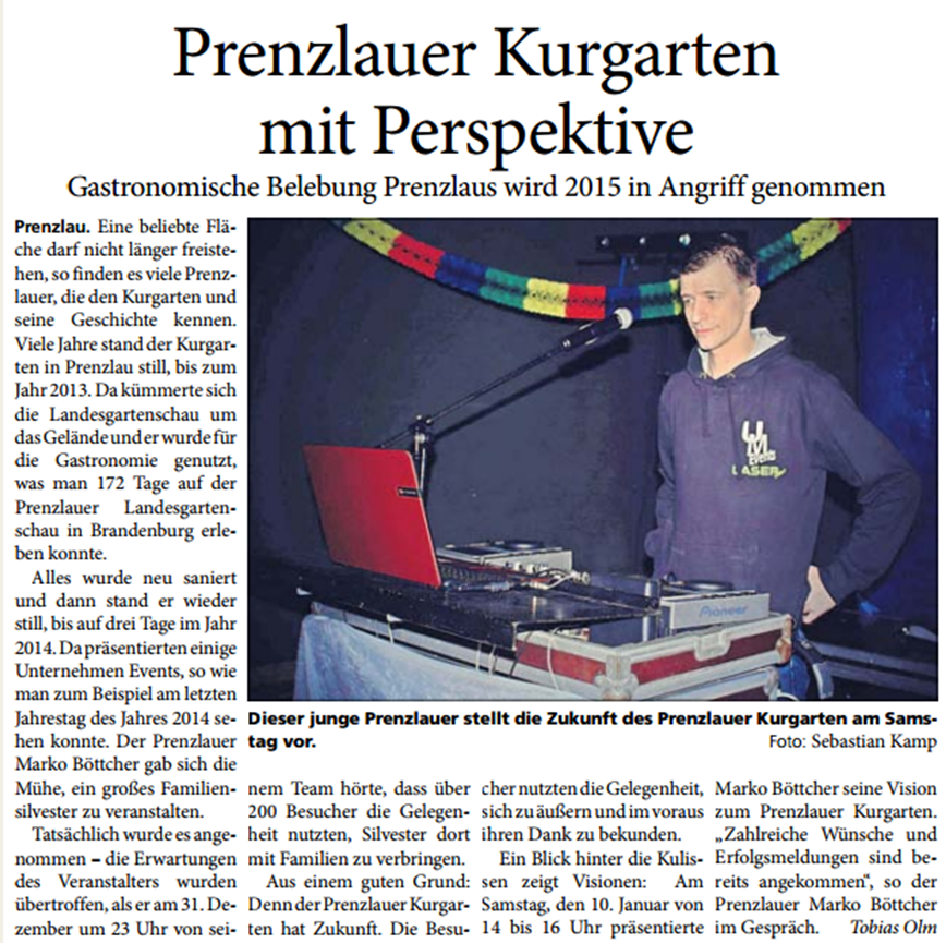 Blickpunkt Brandenburg / Ausgabe : 17.Januar 2015 / Herausgabe : Prenzlau / Templin