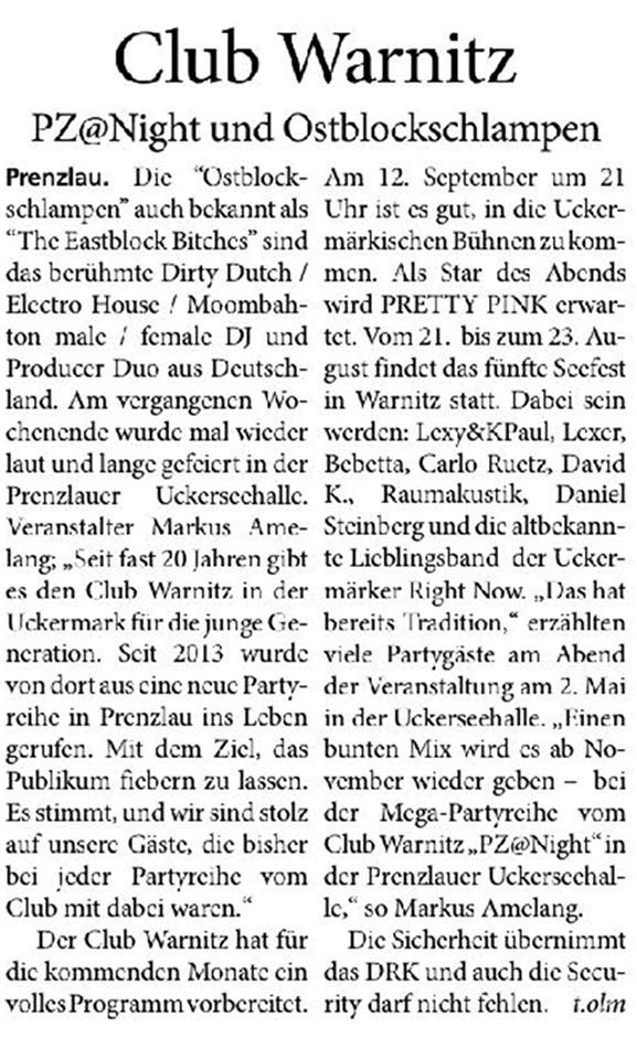 Blickpunkt Brandenburg, Ausgabe September 2016, Herausgabe: Prenzlau / Templin