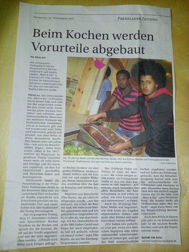 Uckermark Kurier, Prenzlauer Zeitung - 21.11.2017