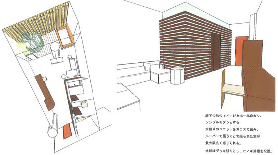 2007.12-2009.5 Onsen spa resort in seoul ソウル市新道林地区の練炭工場跡地に 大規模な複合施設が計画されている。 そのワンフロアの温浴施設の基本設計。  4階全体約9000のフロアの 建築・機械設備・電気設備・照明計画のとりまとめ 及びスーペリアゾーンのデザインを担当。