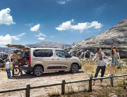 Richtig viel Platz im neuen Citroën Berlingo bei Vallorani in Ebersberg
