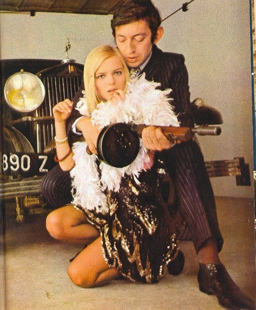 France Gall et Serge Gainsbourg en Bonnie & Clyde - ceci est juste une image sans clip