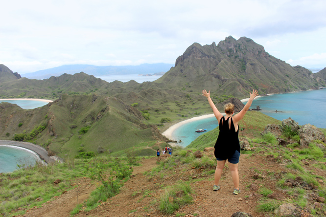 hiking Padar Mountain