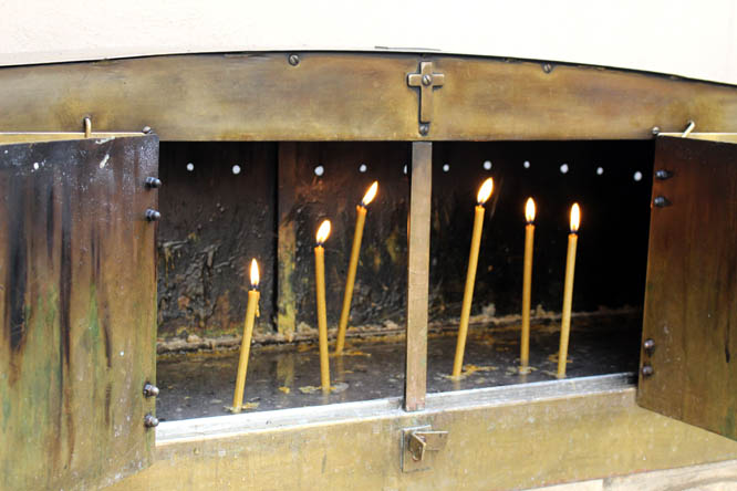 Candles at Monastery