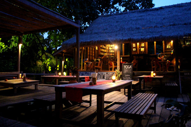 Restaurant at Castaway at night