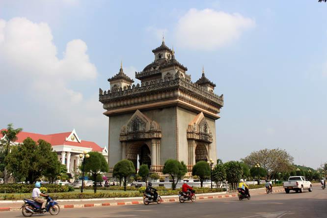 Putaxai Monument in Vientiane