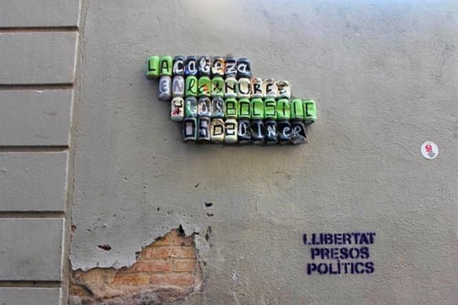 Cans by Los Latas in Barcelona