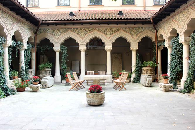 Courtyard of Stavropoleos Monastery