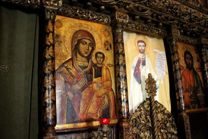 Mural in Stavropoleos Monastery Dome