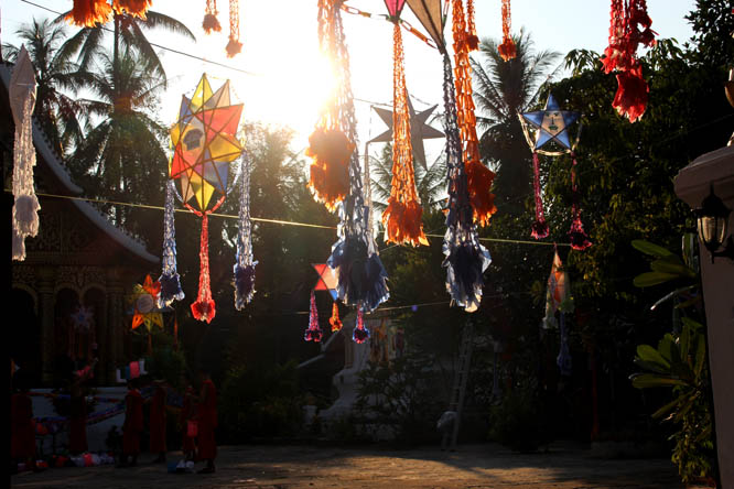 Festival of lights in Luang Prabang