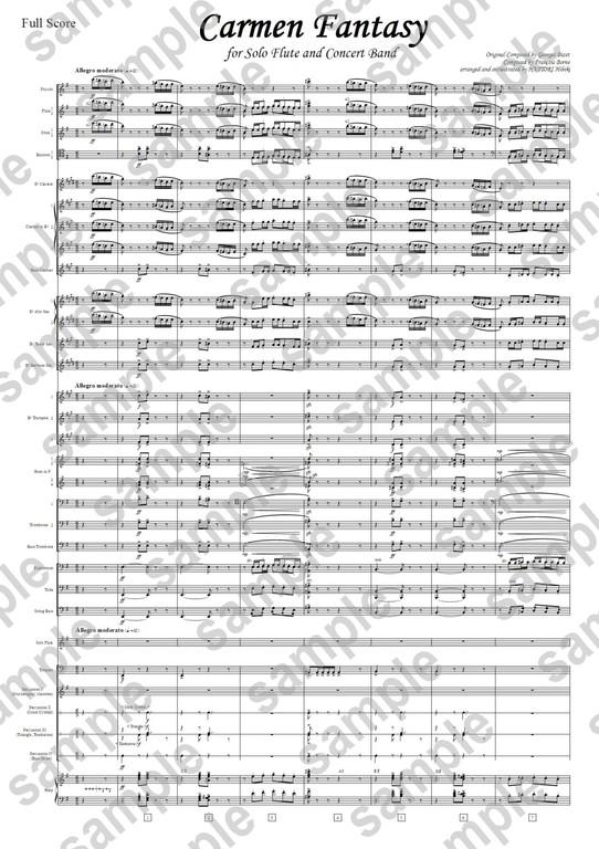 B4スコア譜サンプル-吹奏楽