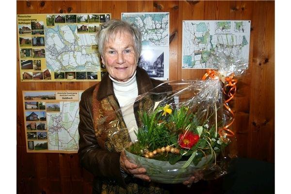 Ursula Sapia gehört dem Heimatverein seit 40 Jahren an..