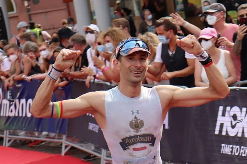 Florian Schedlbauer beim Frankfurt-Ironman