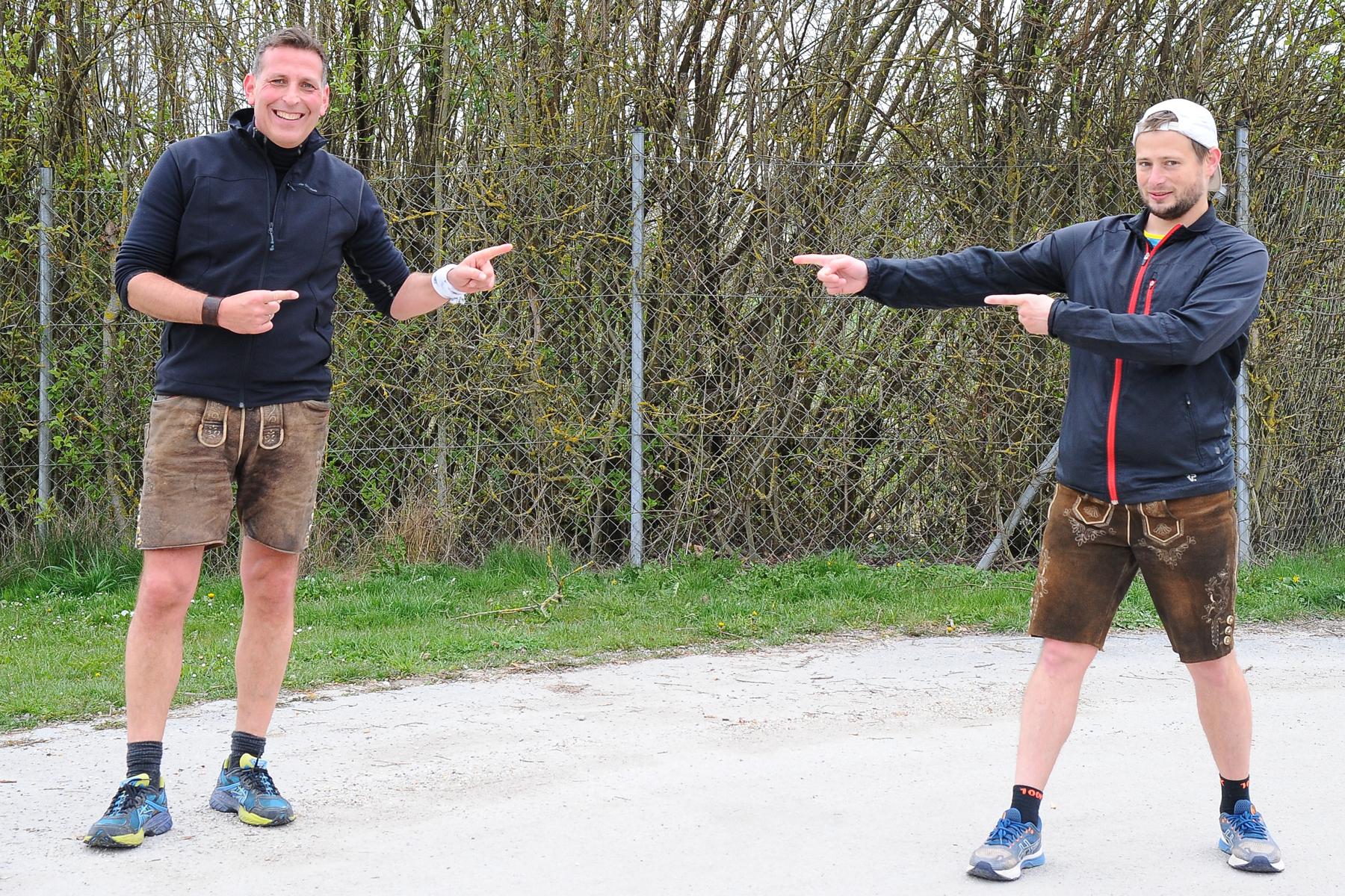 Ein Halbmarathon in Lederhose