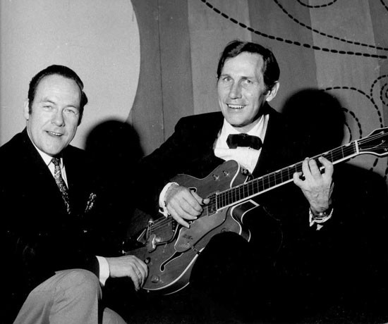 Eddy Christiani  met Chet Atkins in 1969