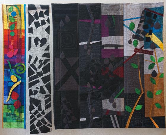 Mitten im Leben der Tod - 120 x 90 cm