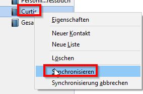 Adressbuch synchronisieren